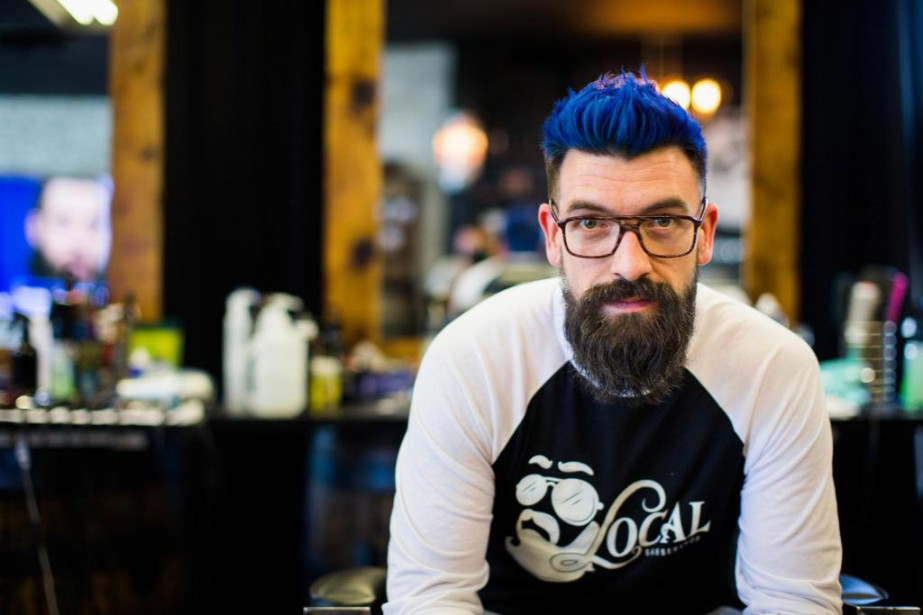 Youri Richer-Leclerc, 30 ans, barbier... (Photo Olivier PontBriand, Archives La Presse)