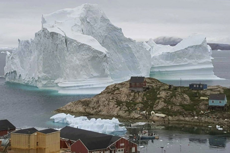 L'île d'Innarsuit, dans le nord-ouest du Groenland, compte... (photo Magnus Kristensen, Ritzau Scanpix, via l'Associated Press)