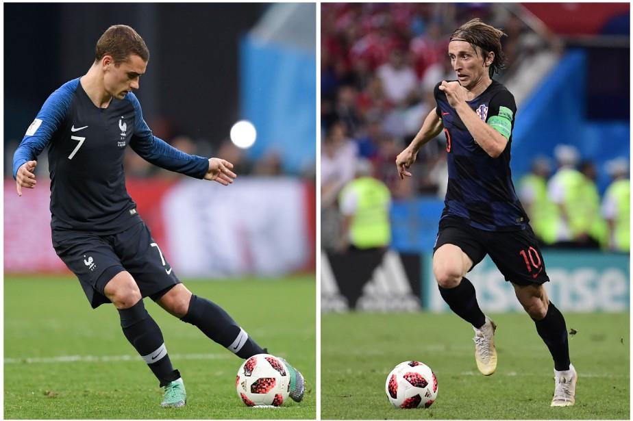 L'attaquant français Antoine Griezmann et le milieu de... (Photos AFP)