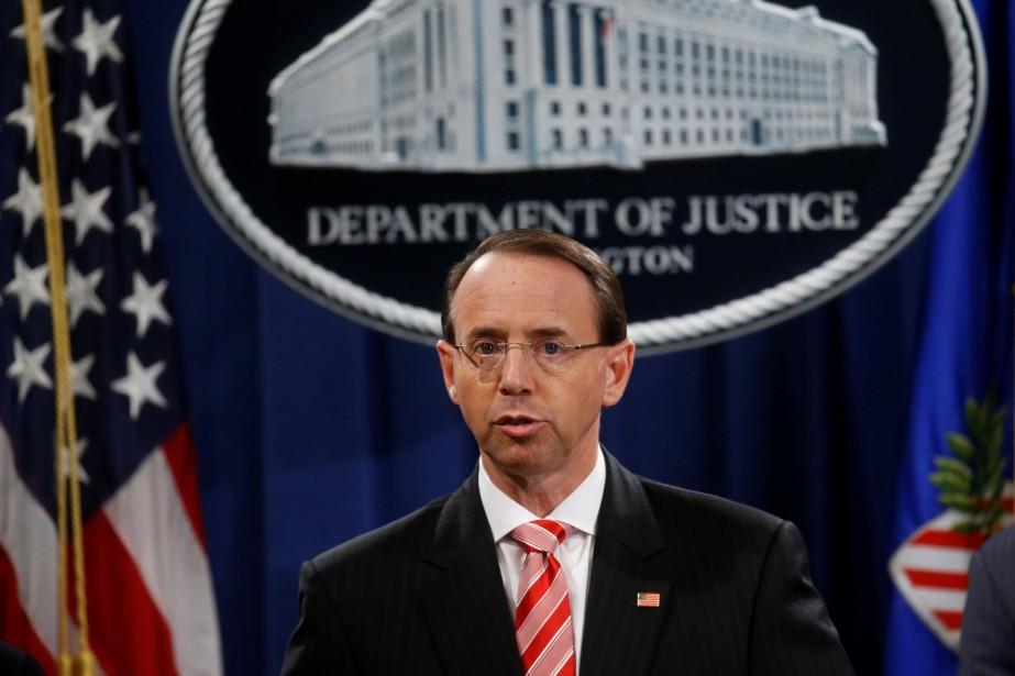 Le procureur général adjoint des États-Unis, Rod Rosenstein... (Photo REUTERS)