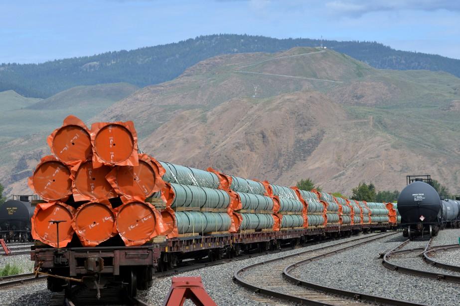 Des morceaux du pipeline à être construit par... (Photo Dennis Owen, Archives Reuters.)