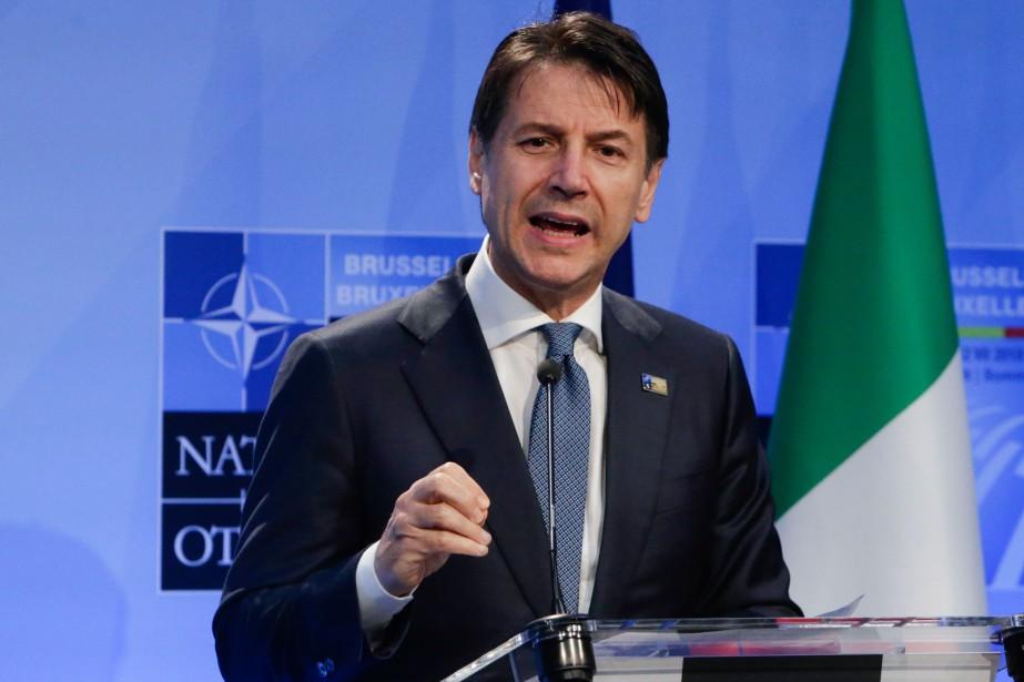 Giuseppe Conte lors du dernier sommet de l'OTAN.... (Photo Aris Oikonomou, Archives AFP)