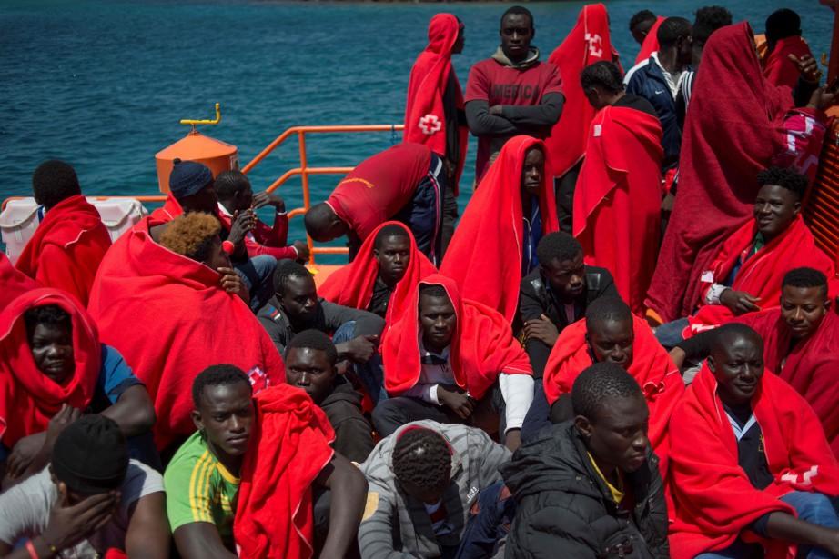 Selon l'Organisation internationale pour les migrations, 61557personnes ont... (PHOTO JORGE GUERRERO, Agence france-presse)