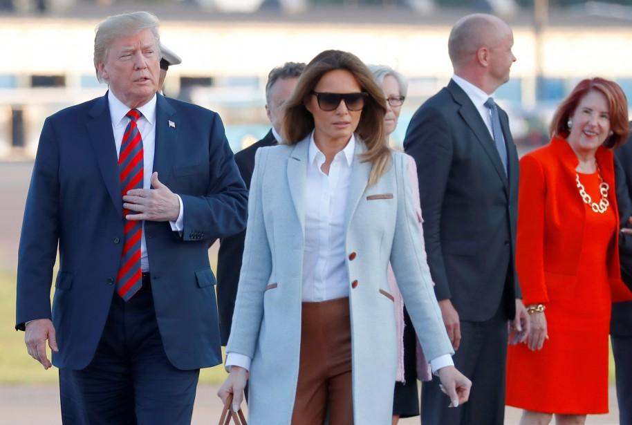 Donald et Melania Trump à leur arrivée à... (PHOTO REUTERS)