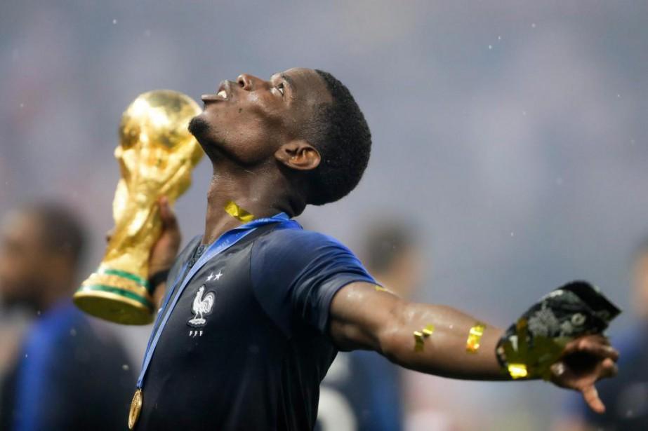 Paul Pogba vit le rêve de tout joueur... (PHOTO AP)