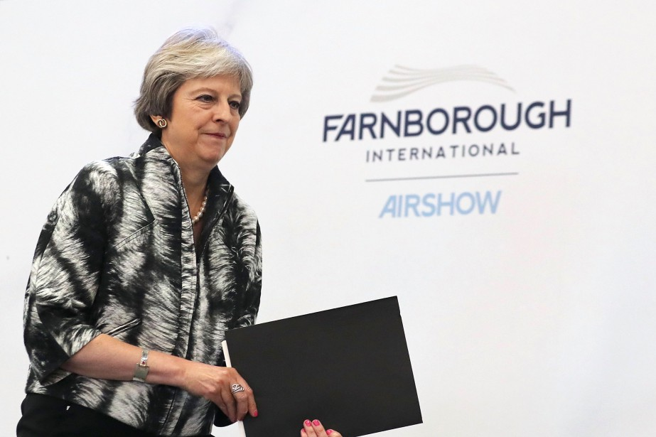 La première ministre britannique Theresa May s'apprête à... (Getty Images)