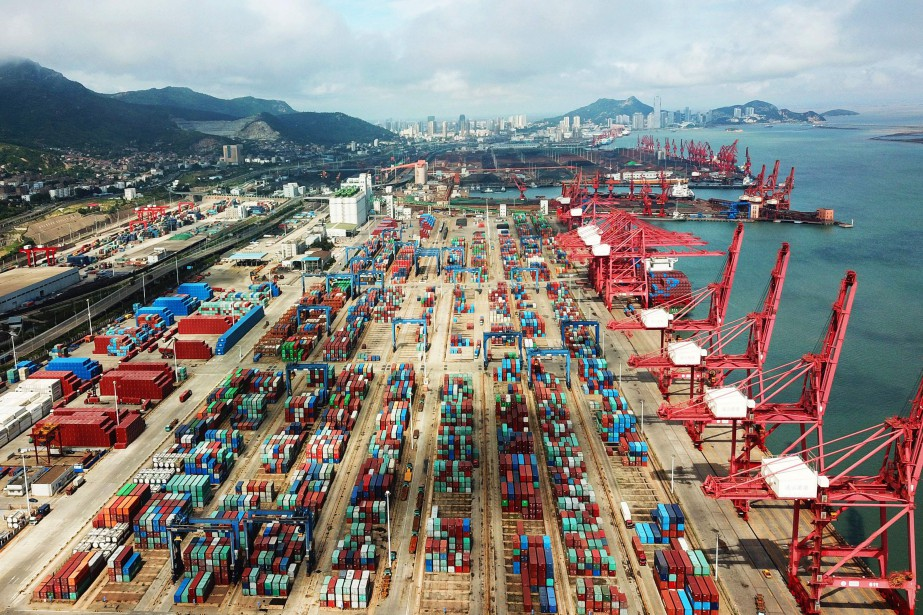 Containers are seen at a port in Lianyungang... (AFP)