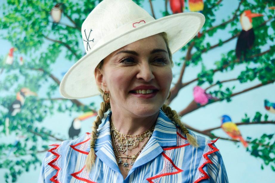 Madonna a visité lundi l'Institut Mercy James de... (Photo AP)