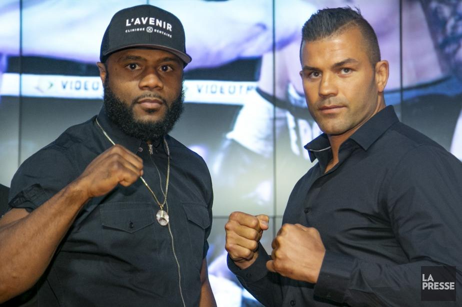 Le combat entre Jean Pascal et Steve Bossé... (Photo David Boily, La Presse)
