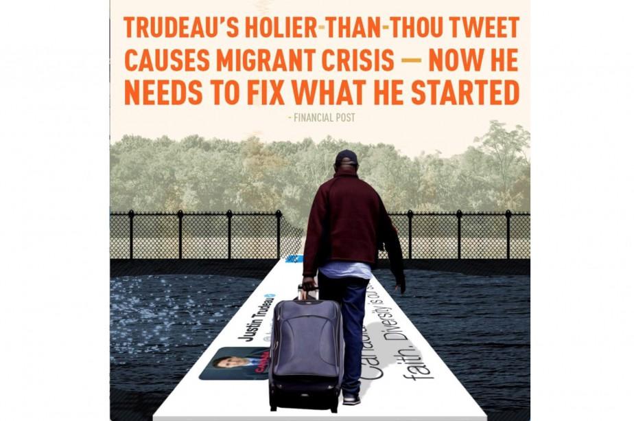 Dans le micromessage, qui est déroulé comme un... (Photo La Presse Canadienne, via @journo_dale)