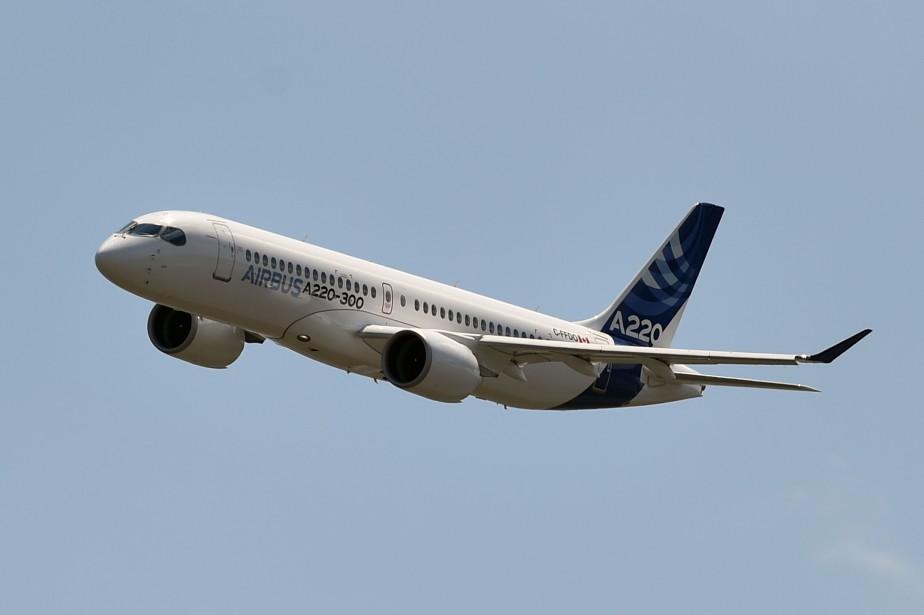 L'A220 est assemblé à Mirabel, au Québec, et... (AFP)