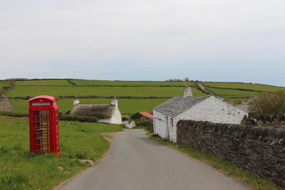 Le village de Cregneash, conservé tel qu'il était... (PHOTO PIERRE-MARC DURIVAGE, LA PRESSE)