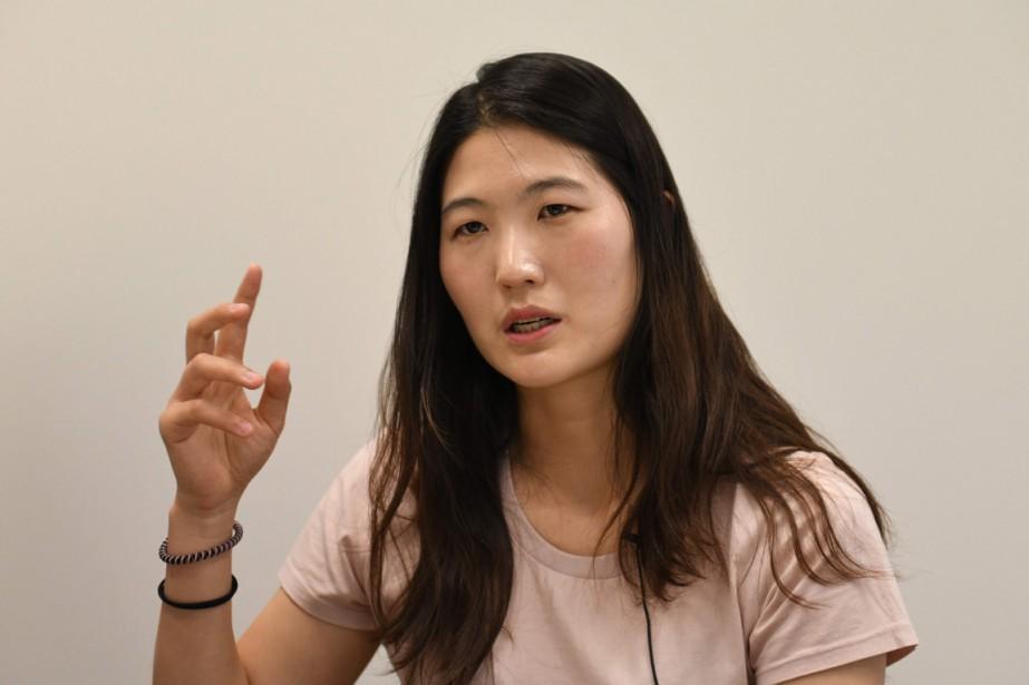 À 27 ans, Kim Eun-Hee parle pour la... (AFP)