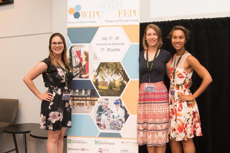 Les organisatrices de Femmes en physique Canada :... (Crédit photo Jérémie Clouâtre)