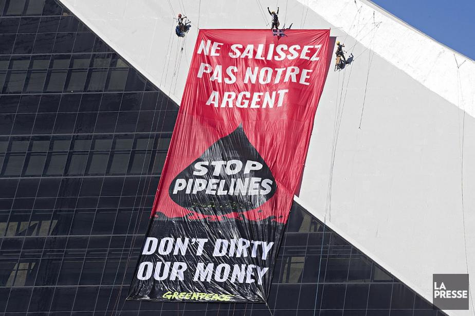 Greenpeace affirme que l'implication du gouvernement du Canada... (Photo Patrick Sanfaçon, La Presse)