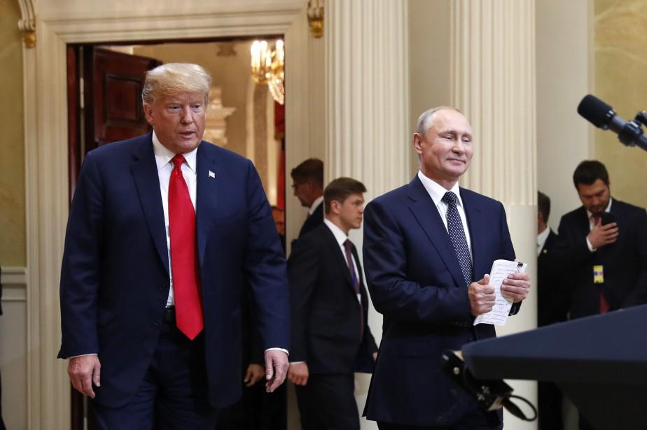 Le président américain Donald Trump et son homologue... (PHOTO Pablo Martinez Monsivais, AP)