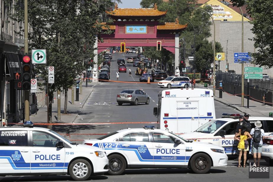 Quatre arrestations ont été effectuées par le SPVM... (PHOTO ROBERT SKINNER, LA PRESSE)