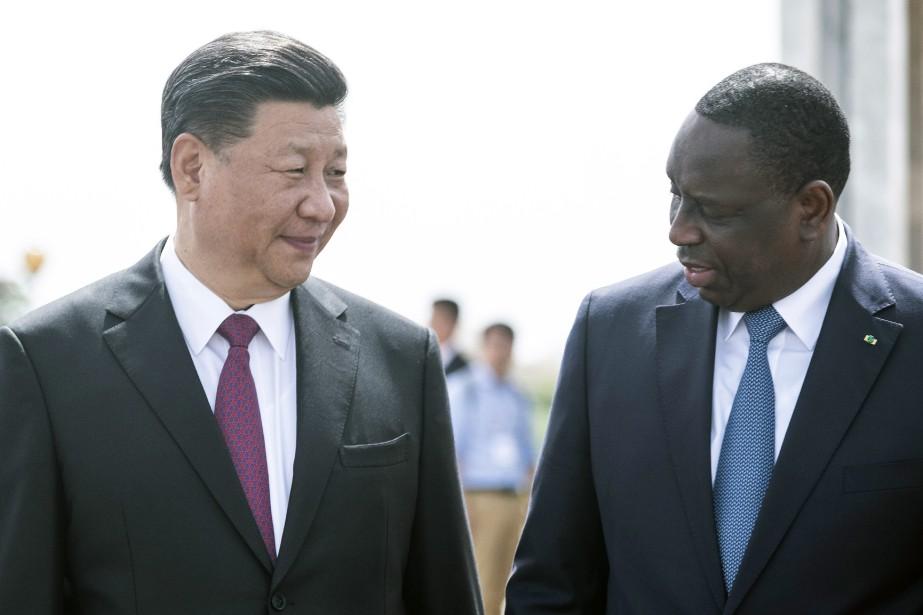 Xi Jinping et Macky Sall... (AP)