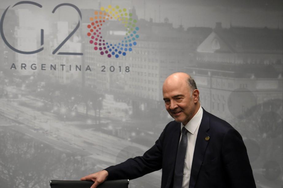 Le commissaire européen aux Affaires économiques Pierre Moscovici... (AFP)