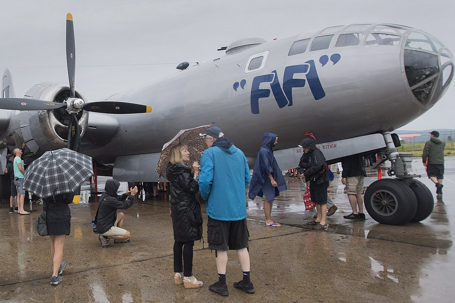 Le Boeing B-29 Superfortress, qui avait été livré... (Photo La Presse canadienne)