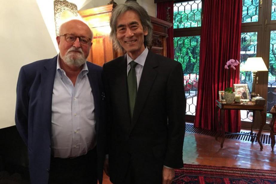 Krzysztof Penderecki (à gauche) et Kent Nagano.