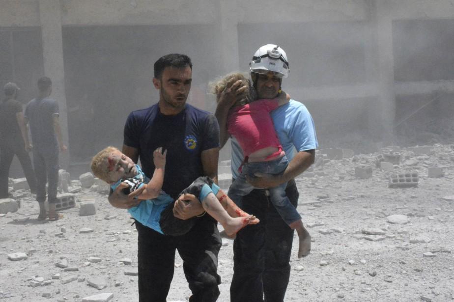 Le gouvernement syrien a condamné lundi une opération multilatérale... (AP)