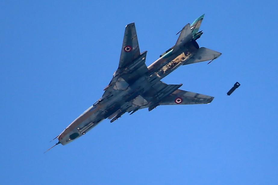 «L'armée israélienne a repéré l'avion syrien de type... (Photo Amer Almohibany, archives Agence France-Presse)