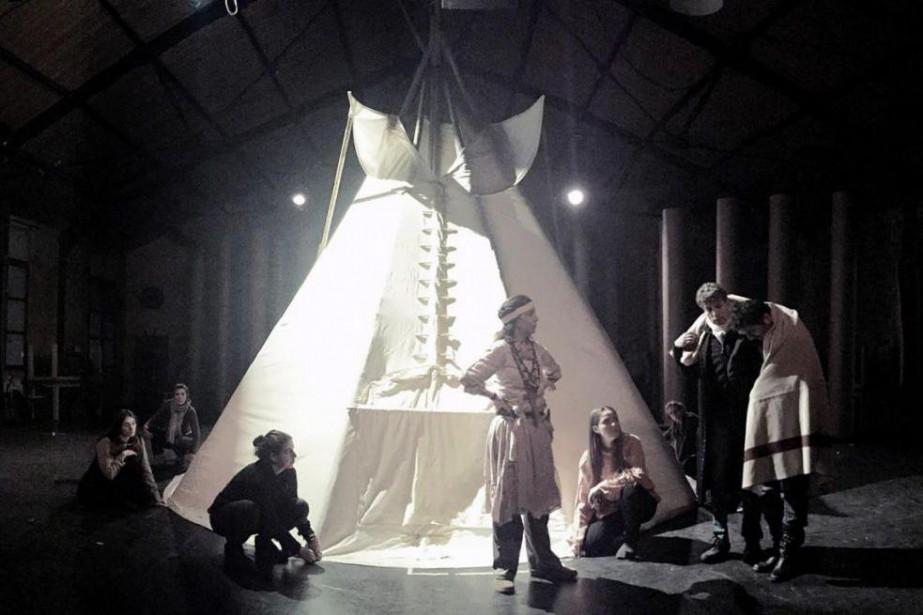 Le spectacle Kanata en répétition au Théâtre du... (PHOTODAVIDLECLERC, TIRÉE DU SITE DU THÉÂTRE DU SOLEIL)
