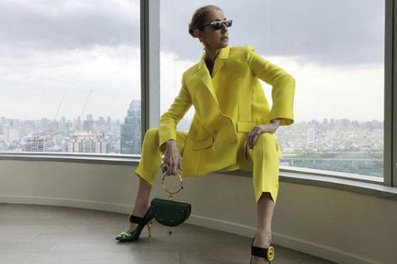 Céline Dion portant une tenue de la Maison... (photo tirée du compte instagram de Céline Dion)