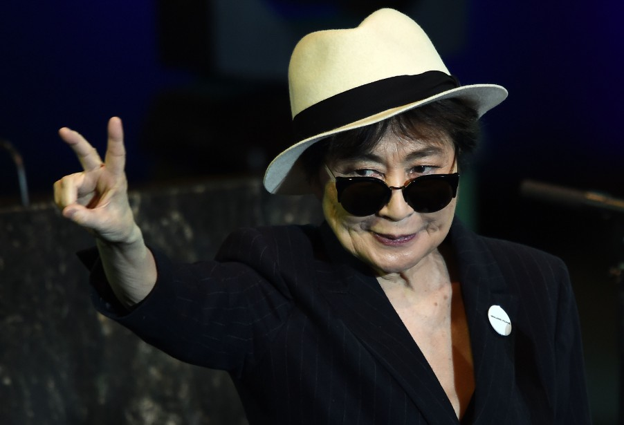 Yoko Ono est restée une militante pour la... (PHOTO Jewel SAMAD, archives Agence france-presse)