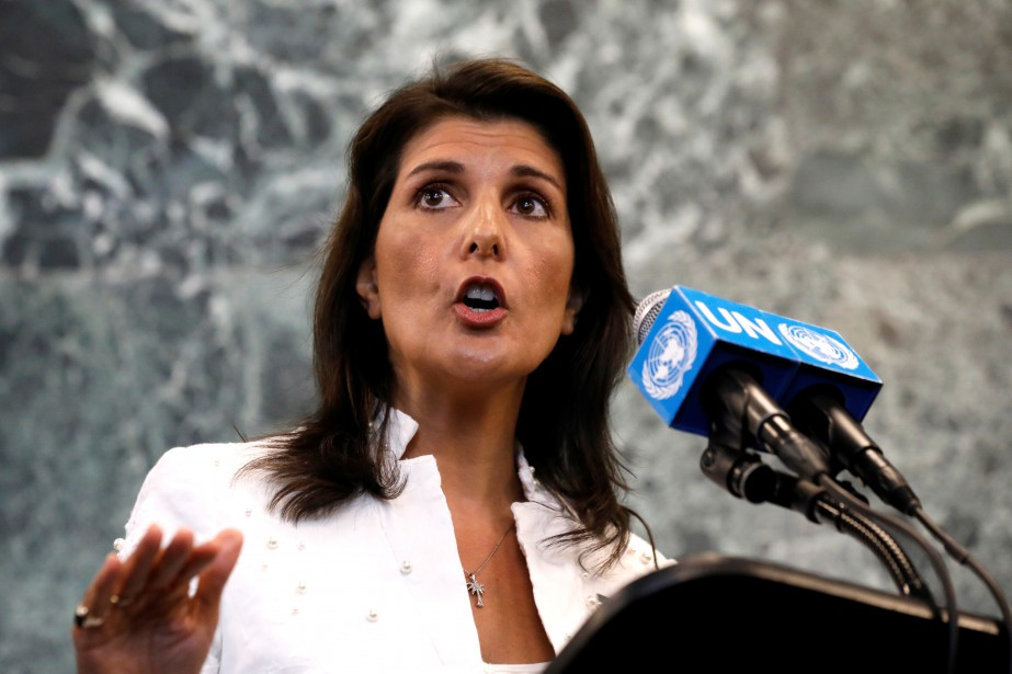 L'ambassadrice américaine à l'ONU, Nikki Haley.... (PHOTO REUTERS)
