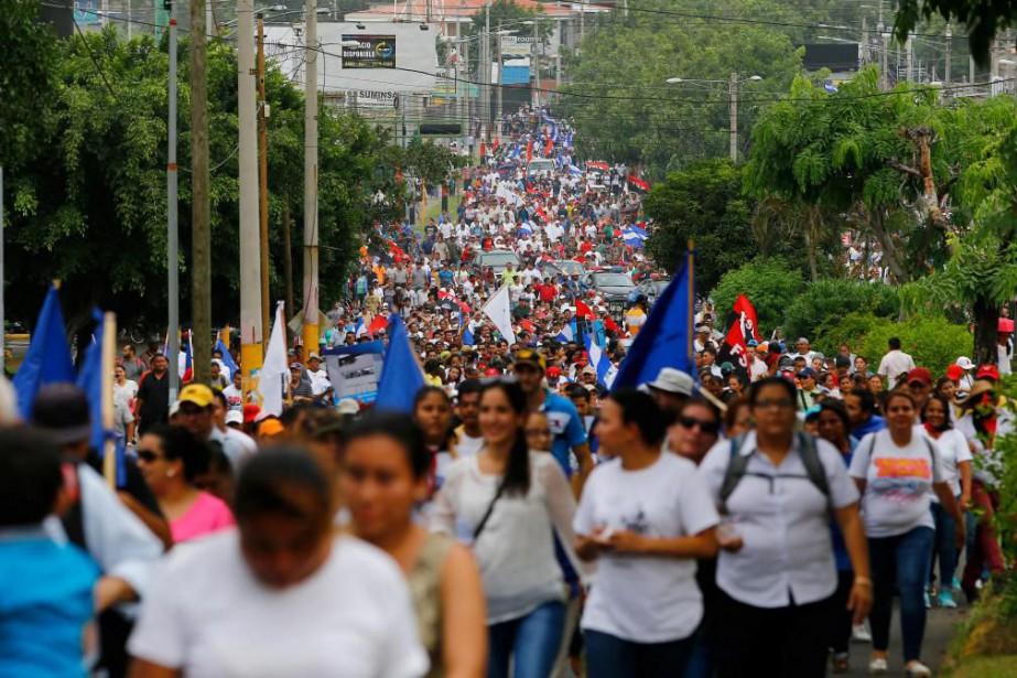 Les soulèvements politiques contre le président du Nicaragua,... (PhotoOswaldo Rivas, Reuters)