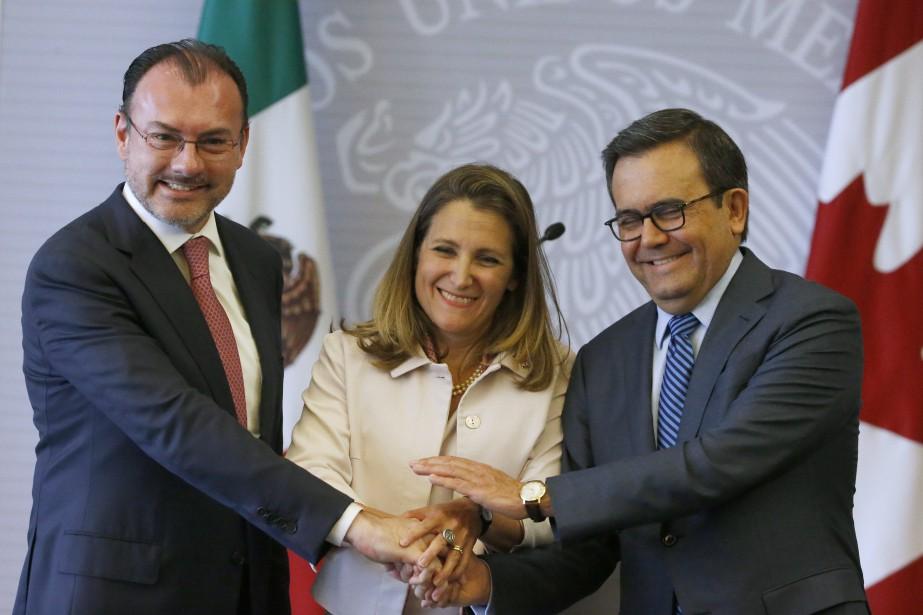 Le ministre mexicain des Affaires étrangères Luis Videgaray,... (Photo Marco Ugarte, Associated Press)