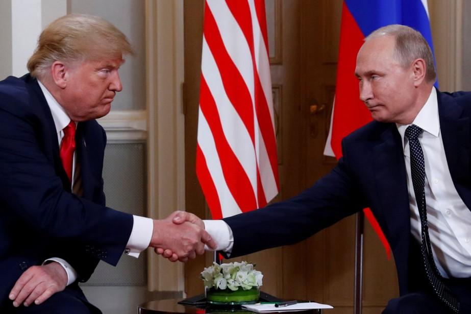Le président américain, Donald Trump, et son homologue... (Photo Kevin Lamarque, archives REUTERS)