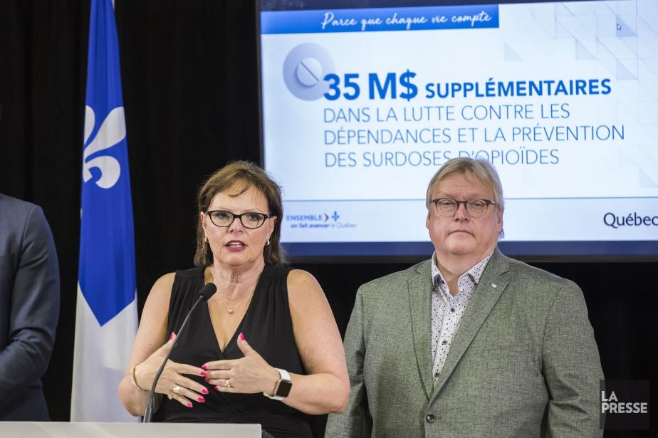 La ministre déléguée à la santé publique, Lucie... (Photo Hugo-Sébastien Aubert, La Presse)