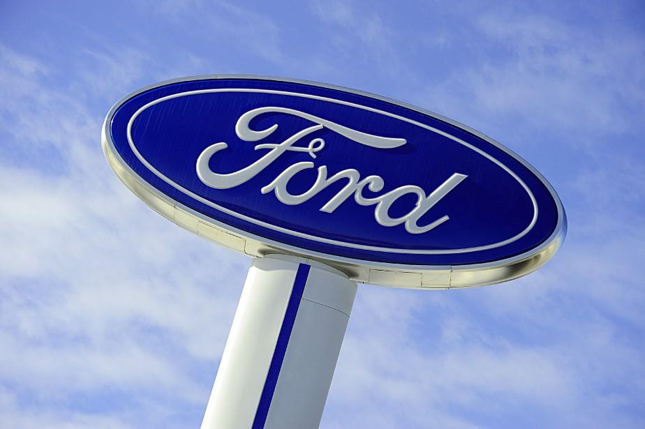 Le titre du constructeur automobile américain a lourdement... (Photo  Karen Bleier, Archives AFP)