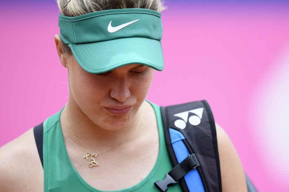 Eugenie Bouchard a dû se retirer de son... (PHOTO AP)