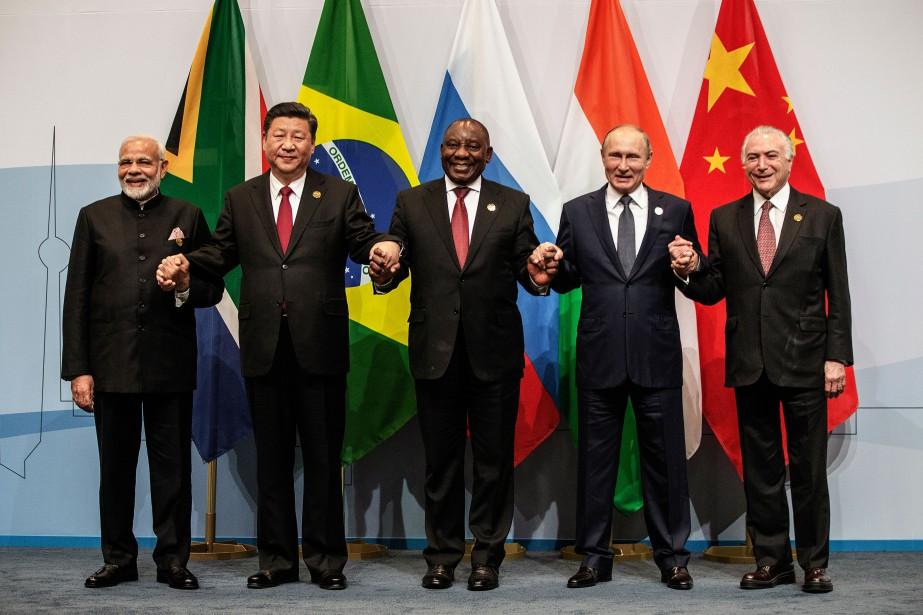 Les pays de l'alliance économique BRICS sont leBrésil... (Photo Gianluigi Guerica, Agence France-Presse)