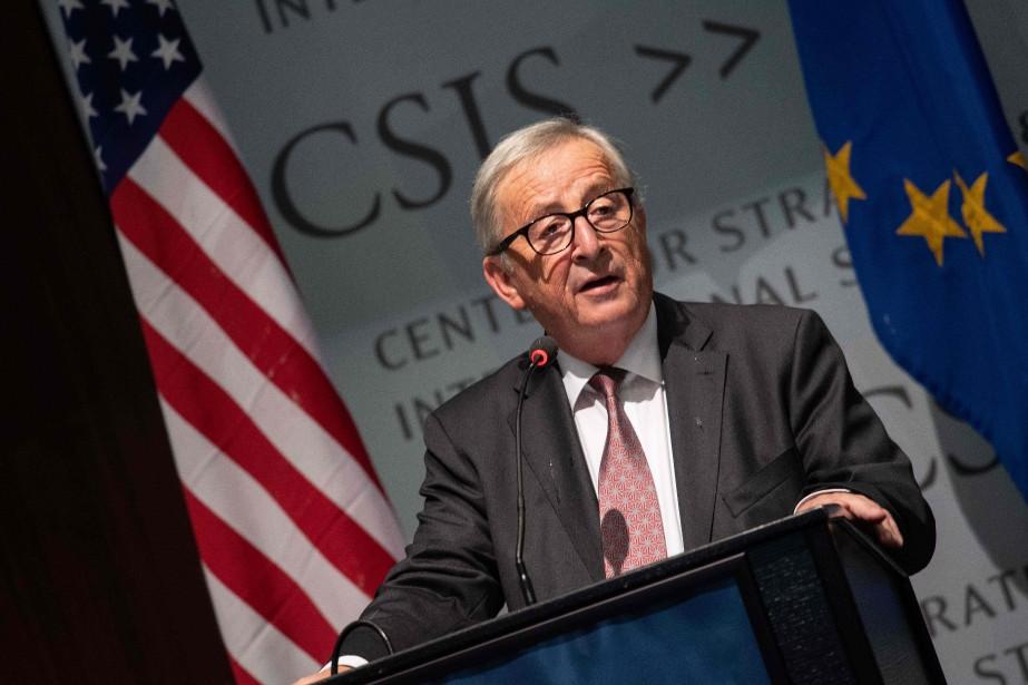 Jean-Claude Juncker lors d'une allocution au Center for... (Photo Nicholas Kamm, Agence France-Presse)