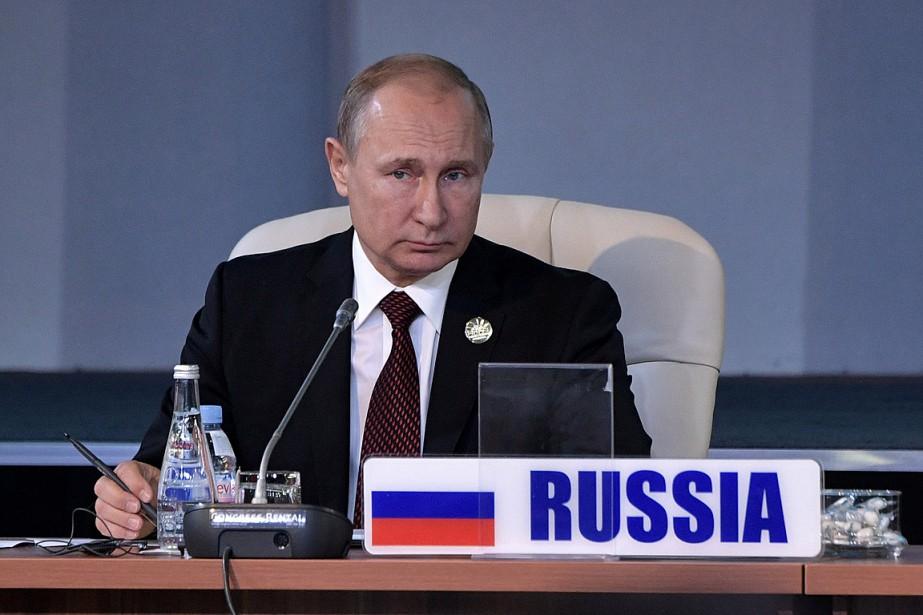 Le président russe Vladimir Poutine au sommet des... (PHOTO ALEXEI NIKOLSKY, SPUTNIK/KREMLIN VIA REUTERS)
