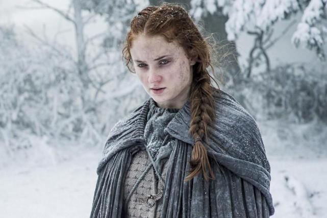 Sophie Turner (Sansa Stark) dans Game of Thrones... (PHOTO FOURNIE PAR HBO)