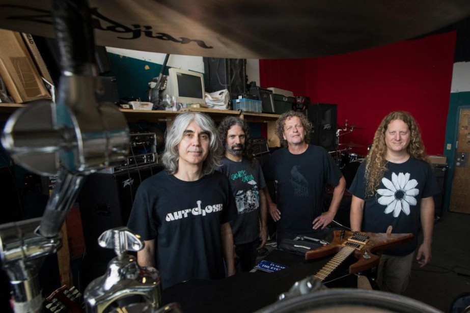 Michel Langevin, Dominique Laroche, Denis Belanger et Dan... (Photo Ivanoh Demers, La Presse)