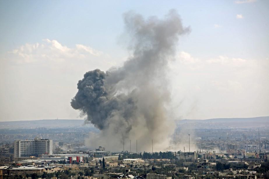 Zone de conflit armé à Damas, en Syrie,... (PHOTO STRINGER, archives Agence france-presse)