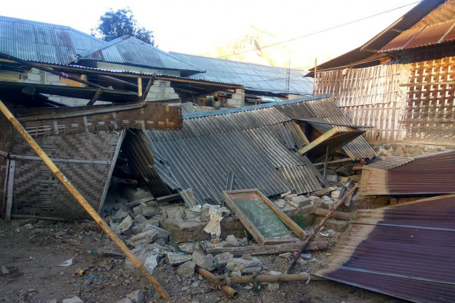 Selon l'Institut d'études géologiques des États-Unis, le tremblement... (REUTERS)