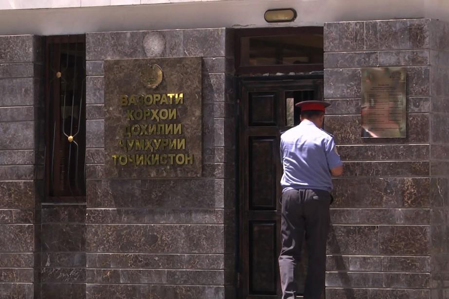 Les bureaux du ministère tadjik de l'Intérieur, à... (PHOTO AFP)
