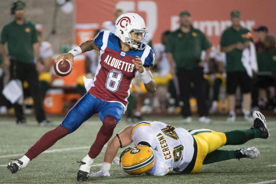 Vernon Adams n'a pu mener les Alouettes à... (PHOTO PC)