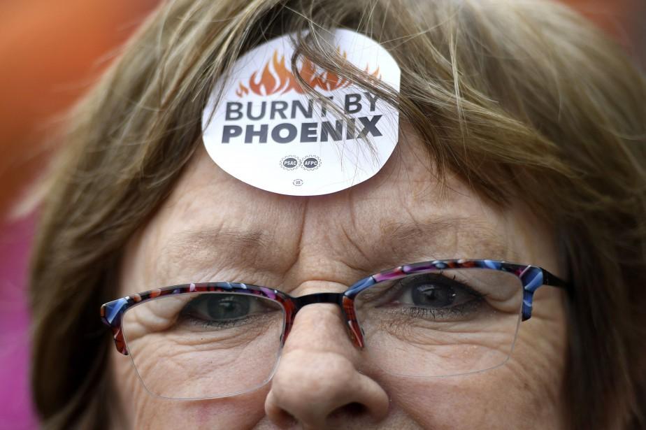 Une manifestante lors d'un rassemblement devant le Secrétariat... (Photo Justin Tang, archives La Presse canadienne)