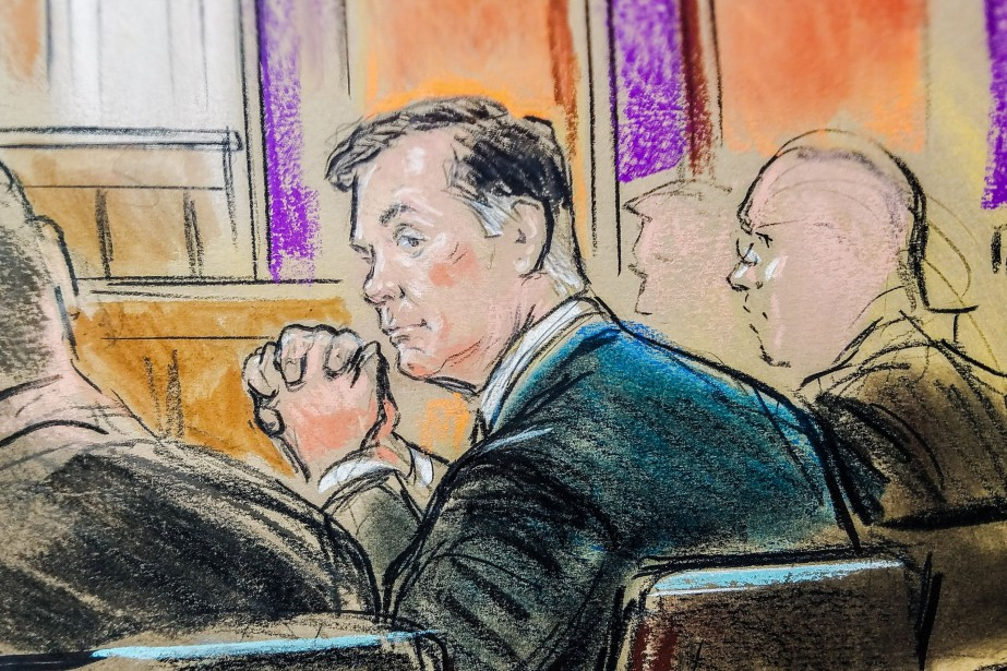 Former Trump campaign manager Paul Manafort is shown... (Illustration Bill Hennessy, Reuters)