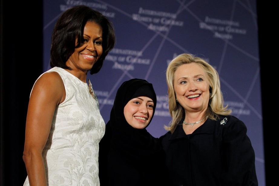Samar Badawi en compagine de Michelle Obama et... (ARCHIVES REUTERS)