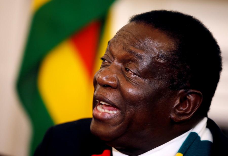 Le président du Zimbabwe, Emmerson Mnangagwa.... (Photo Philimon Bulawayo, Reuters)